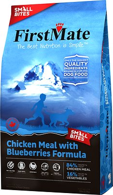 FirstMate Small Bites Chicken Meal with Blueberries Limited Ingredient Diet Grain-Free Dry Dog Food, 5-lb