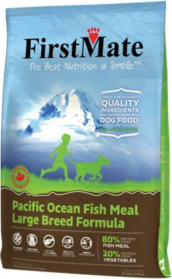 FirstMate Large Breed Pacific Ocean Fish Meal Limited Ingredient Diet Grain-Free Dry Dog Food, 28.6-lb