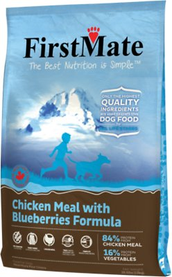 FirstMate Chicken Meal with Blueberries Limited Ingredient Diet Grain-Free Dry Dog Food, 28.6-lb