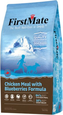 FirstMate Chicken Meal with Blueberries Limited Ingredient Diet Grain-Free Dry Dog Food, 5-lb