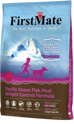 FirstMate Weight Control/Senior Pacific Ocean Fish Meal Limited Ingredient Diet Grain-Free Dry Dog Food, 28.6-lb