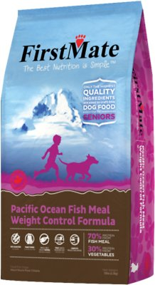FirstMate Weight Control/Senior Pacific Ocean Fish Meal Limited Ingredient Diet Grain-Free Dry Dog Food, 5-lb