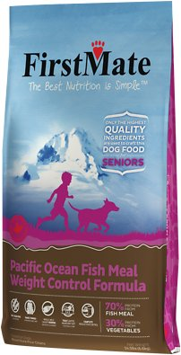 FirstMate Weight Control/Senior Pacific Ocean Fish Meal Limited Ingredient Diet Grain-Free Dry Dog Food, 14.5-lb