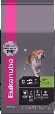 Eukanuba Adult Small Bite Chicken Formula Dry Dog Food, 5-lb