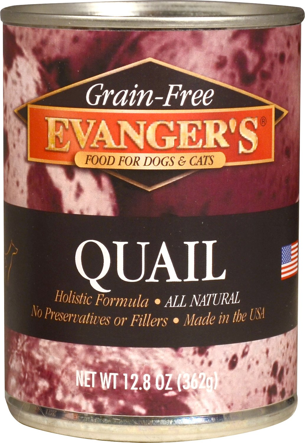Evanger's Grain-Free Quail Canned Dog & Cat Food, 13-oz