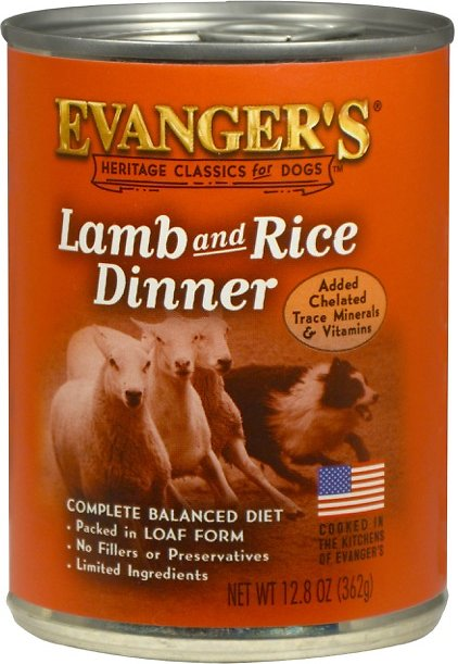 Evanger's Classic Recipes Lamb & Rice Dinner Canned Dog Food, 12.8-oz