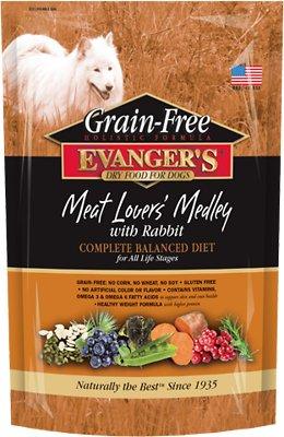 Evanger's Grain-Free Meat Lover's Medley with Rabbit Dry Dog Food, 4.4-lb bag