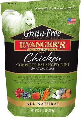 Evanger's Grain-Free Chicken with Sweet Potato & Pumpkin Dry Dog Food, 33-lb bag