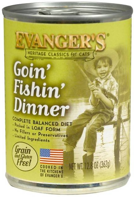 Evanger's Classic Recipes Goin' Fishin' Dinner Grain-Free Canned Cat Food, 13-oz