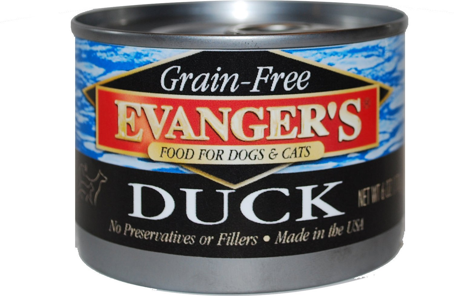 Evanger's Grain-Free Duck Canned Dog & Cat Food, 6-oz