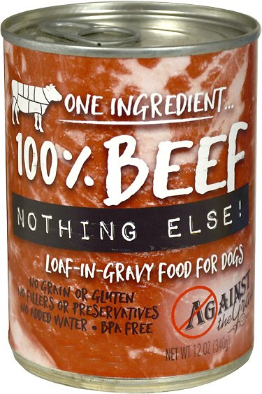 Against the Grain NothingElseBeef Grain-Free Canned Dog Food, 11-oz