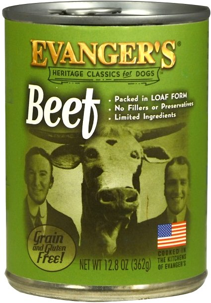 Evanger's Classic Recipes Beef Grain-Free Canned Dog Food, 12.8-oz Image