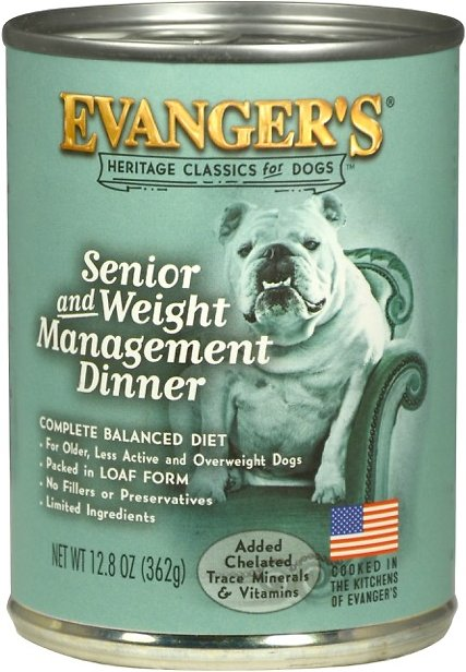 Evanger's Classic Recipes Senior & Weight Management Dinner Canned Dog Food Image