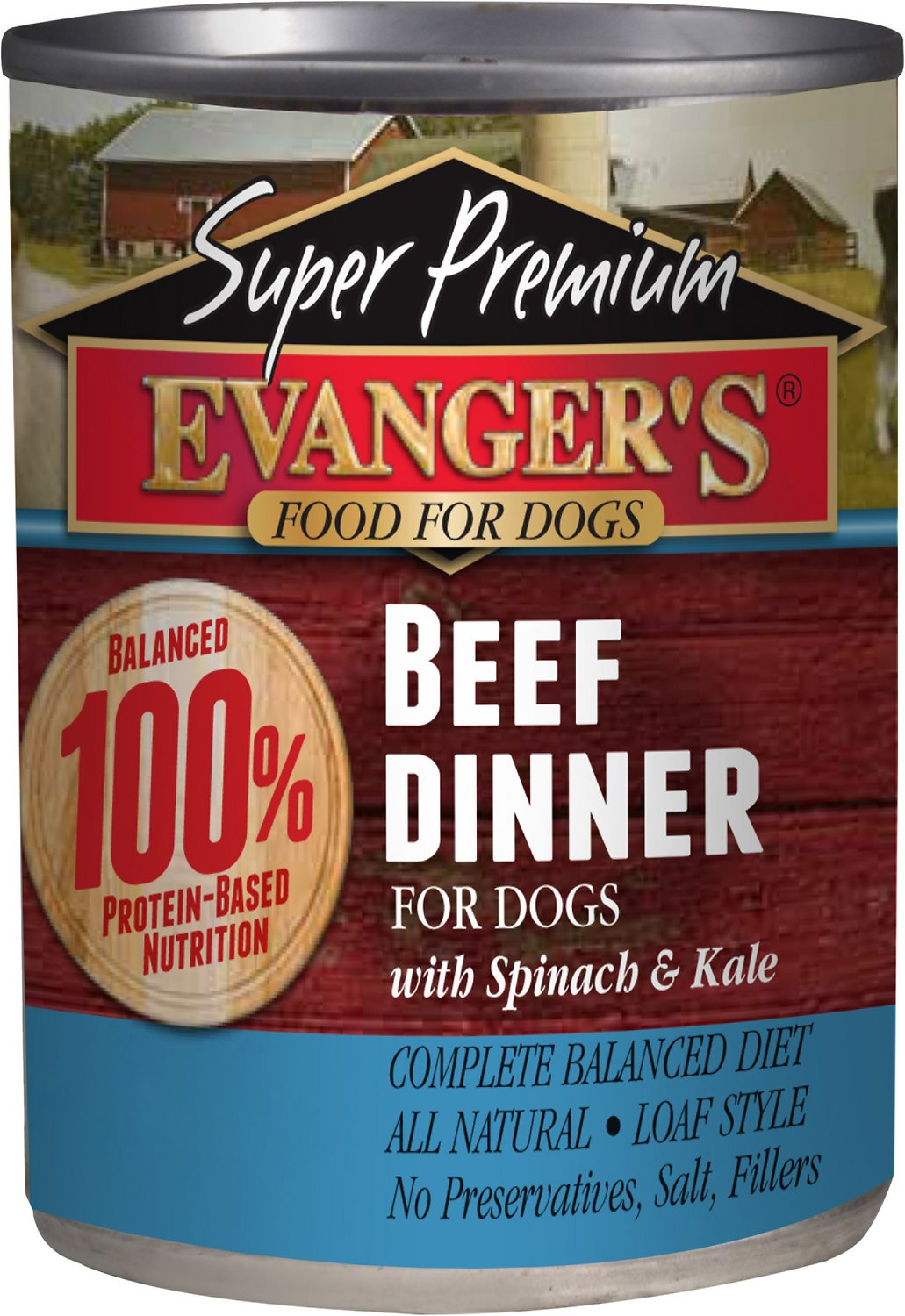 Evanger's Super Premium Beef Dinner Grain-Free Canned Dog Food, 12.8-oz