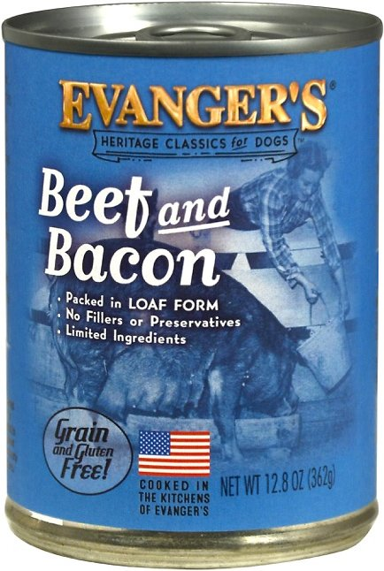 Evanger's Classic Recipes Beef & Bacon Grain-Free Canned Dog Food, 12.8-oz Image