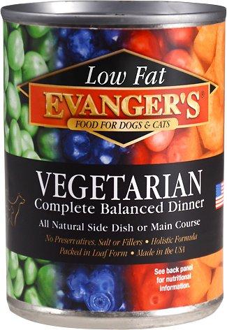 Evanger's Low Fat Vegetarian Dinner Canned Dog & Cat Food Image
