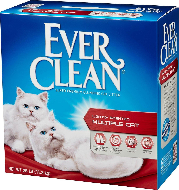 Ever Clean Multi-Cat Clumping Cat Litter, 25-lb box