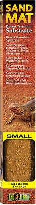 Exo Terra Sand Mat Desert Terrarium Reptile Substrate, 17-in (Small)