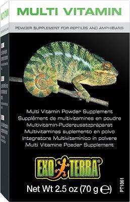 Exo Terra Multi Vitamin Reptile & Amphibian Supplement, 2.5-oz box