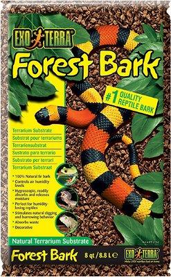 Exo Terra Forest Bark Natural Fir Terrarium Reptile Substrate, 8-qt