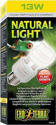 Exo Terra Natural Daylight Reptile Lamp, 13-w bulb