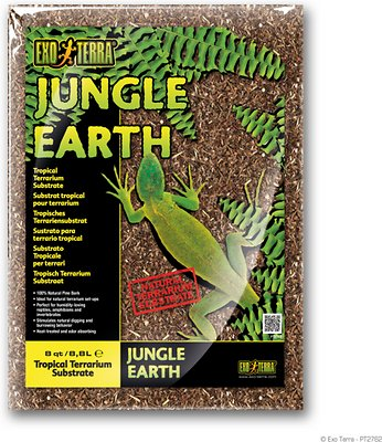 Exo Terra Jungle Earth Tropical Terrarium Reptile Substrate, 8-qt