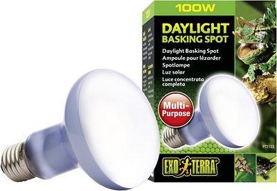 Exo Terra Daylight Basking Reptile Spot Lamp, 100-w bulb