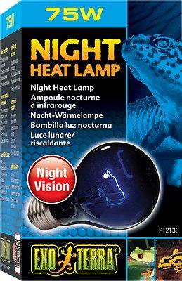 Exo Terra Night Heat Bulb Reptile Lamp, 75-W bulb