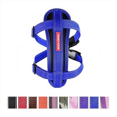 EzyDog Chest Plate Dog Harness, Blue, Medium