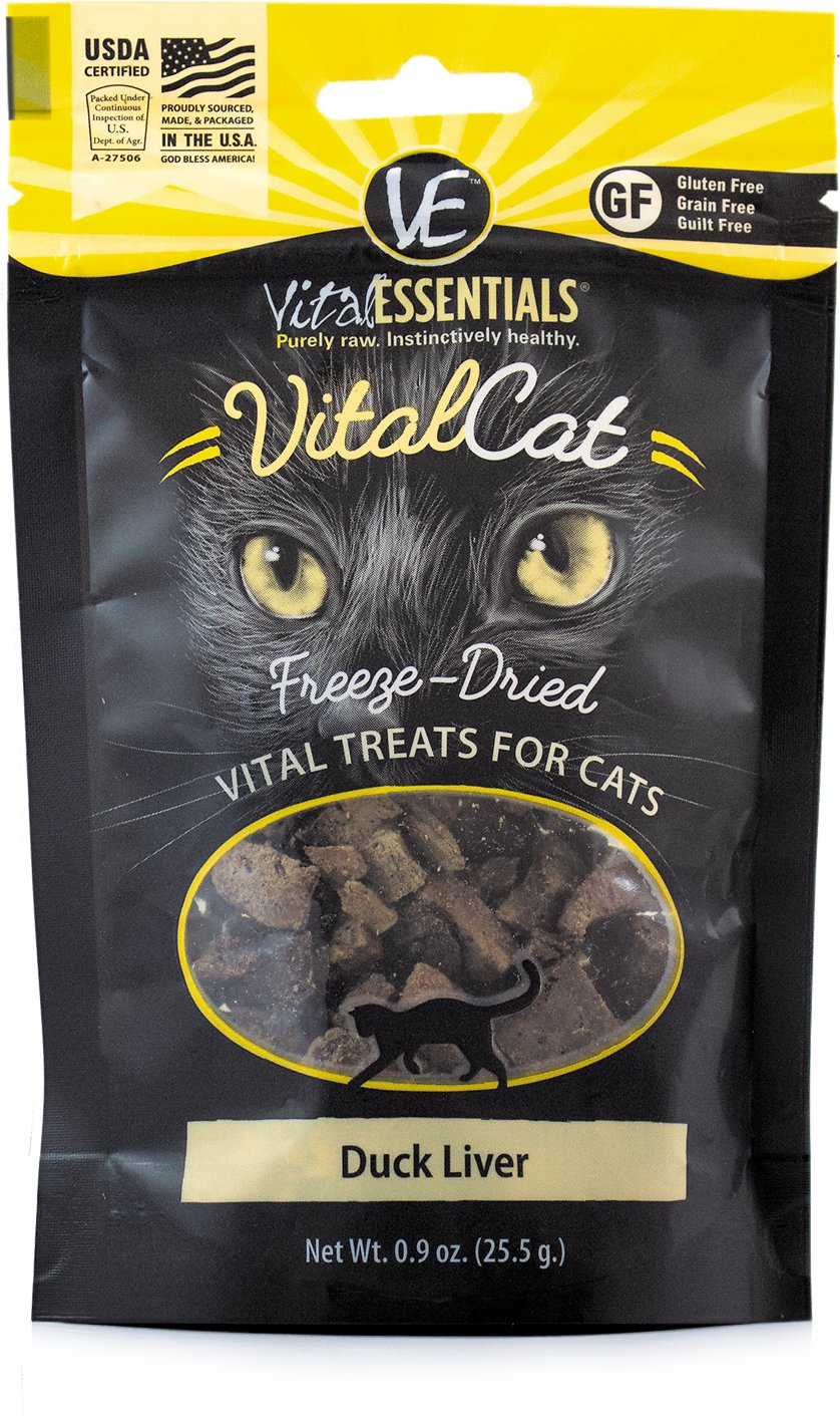 Vital Essentials Vital Cat Treats Duck Liver Freeze-Dried Cat Treats, 0.9-oz bag Image