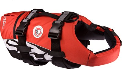 EzyDog Doggy Flotation Device Life Jacket, Red, Large