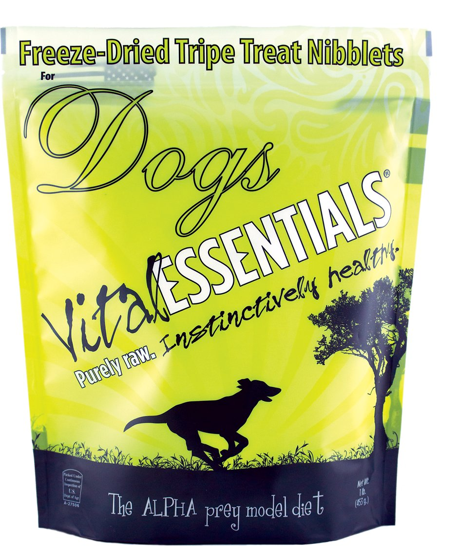 Vital Essentials Treats Tripe Nibblets Freeze-Dried Dog Treats, 1-lb bag Image