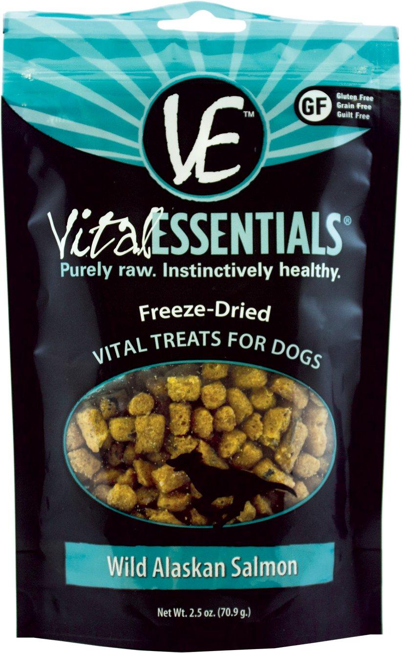 Vital Essentials Treats Wild Alaskan Salmon Freeze-Dried Dog Treats, 2.5-oz bag