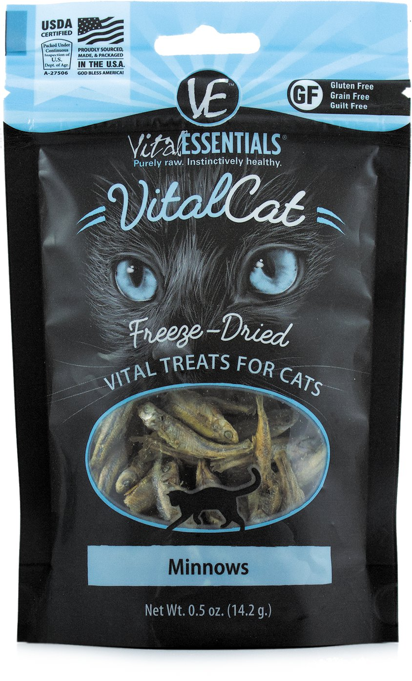 Vital Essentials Vital Cat Treats Minnows Freeze-Dried Cat Treats, 0.5-oz bag