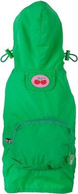 Fab Dog Travel Raincoat, Green, Large