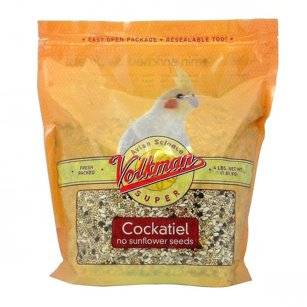 Volkman Avian Science Super Sunflower Seed-Free Cockatiel Food, 4-lb bag Image