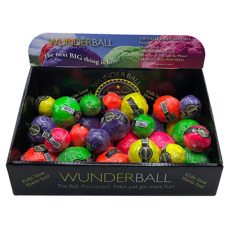 WACKYwalk'r WUNDERBALL Fetch Dog Toy, Color Varies, Medium