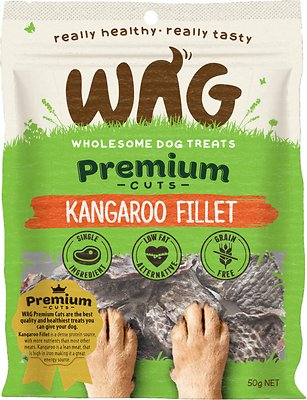 WAG Grain-Free Kangaroo Filet Dog Treats, 50-grams