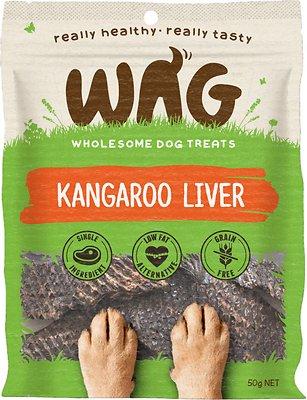 WAG Grain-Free Kangaroo Liver Dog Treats, 50-grams