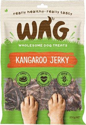 WAG Grain-Free Kangaroo Jerky Dog Treats, 200g
