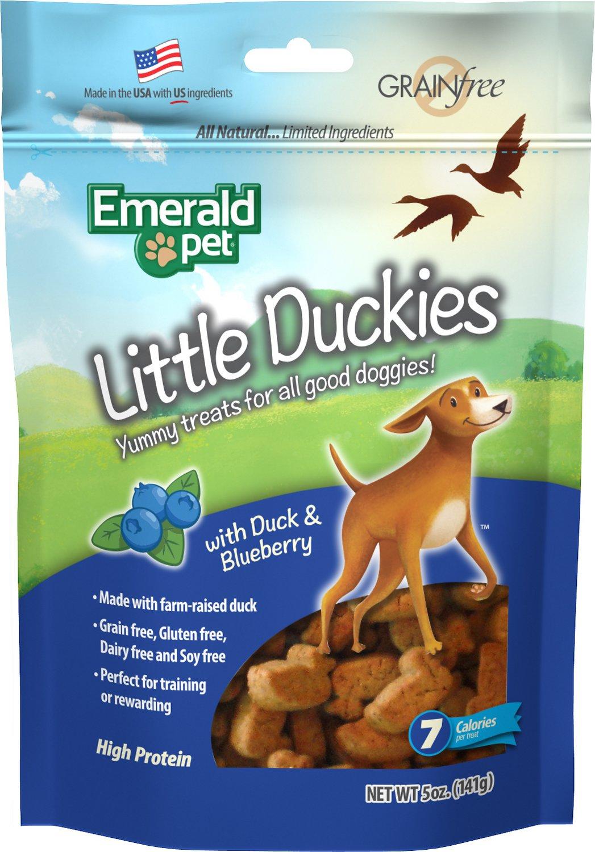 Emerald Pet Little Duckies with Duck & Blueberry Dog Treats, 5-oz bag