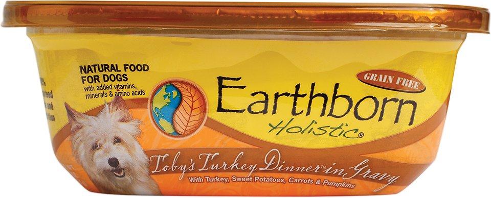 Earthborn Holistic Toby's Turkey Dinner Grain-Free Natural Moist Dog Food, 8-oz