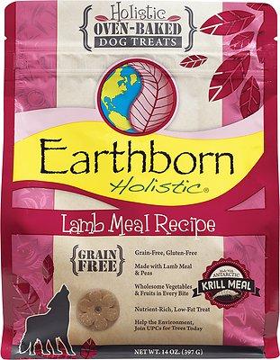 Earthborn Holistic Grain-Free Lamb Meal Recipe Dog Treats, 14-oz bag