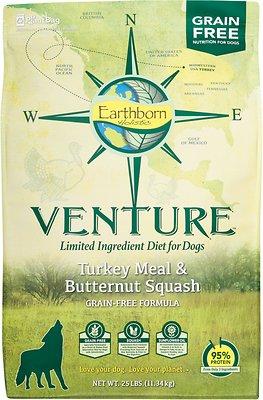Earthborn Holistic Venture Turkey Meal & Butternut Squash Limited Ingredient Diet Grain-Free Dry Dog Food, 25-lb