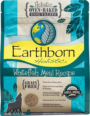 Earthborn Holistic Grain-Free Whitefish Meal Recipe Dog Treats, 14-oz bag