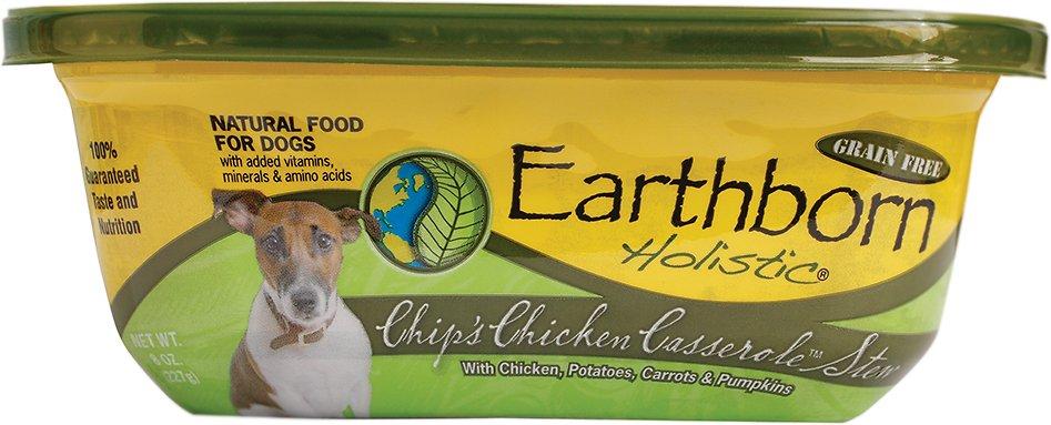 Earthborn Holistic Chip's Chicken Casserole Grain-Free Natural Moist Dog Food, 8-oz