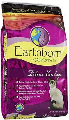 Earthborn Holistic Feline Vantage Natural Dry Cat & Kitten Food, 14-lb bag