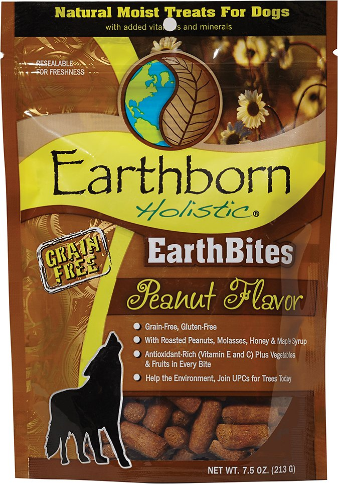 Earthborn Holistic EarthBites Peanut Flavor Natural Moist Treats For Dogs, 7.5-oz bag