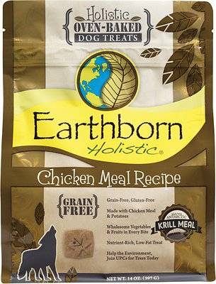 Earthborn Holistic Grain-Free Chicken Meal Recipe Dog Treats, 2-lb bag