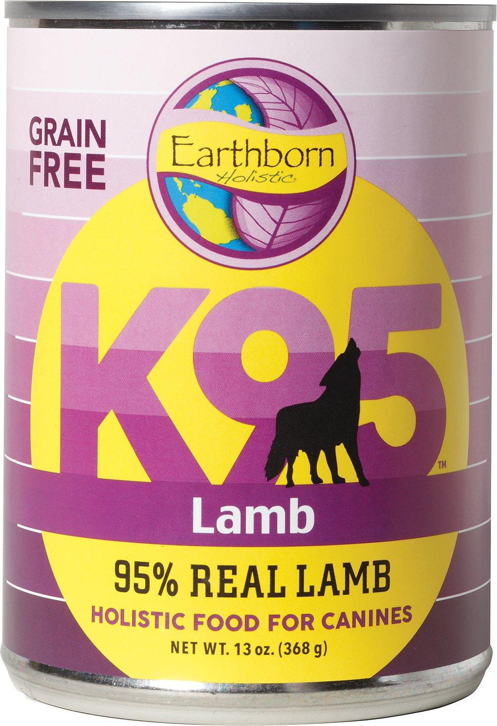 Earthborn Holistic K95 Lamb Recipe Grain-Free Canned Dog Food, 13-oz, case of 12